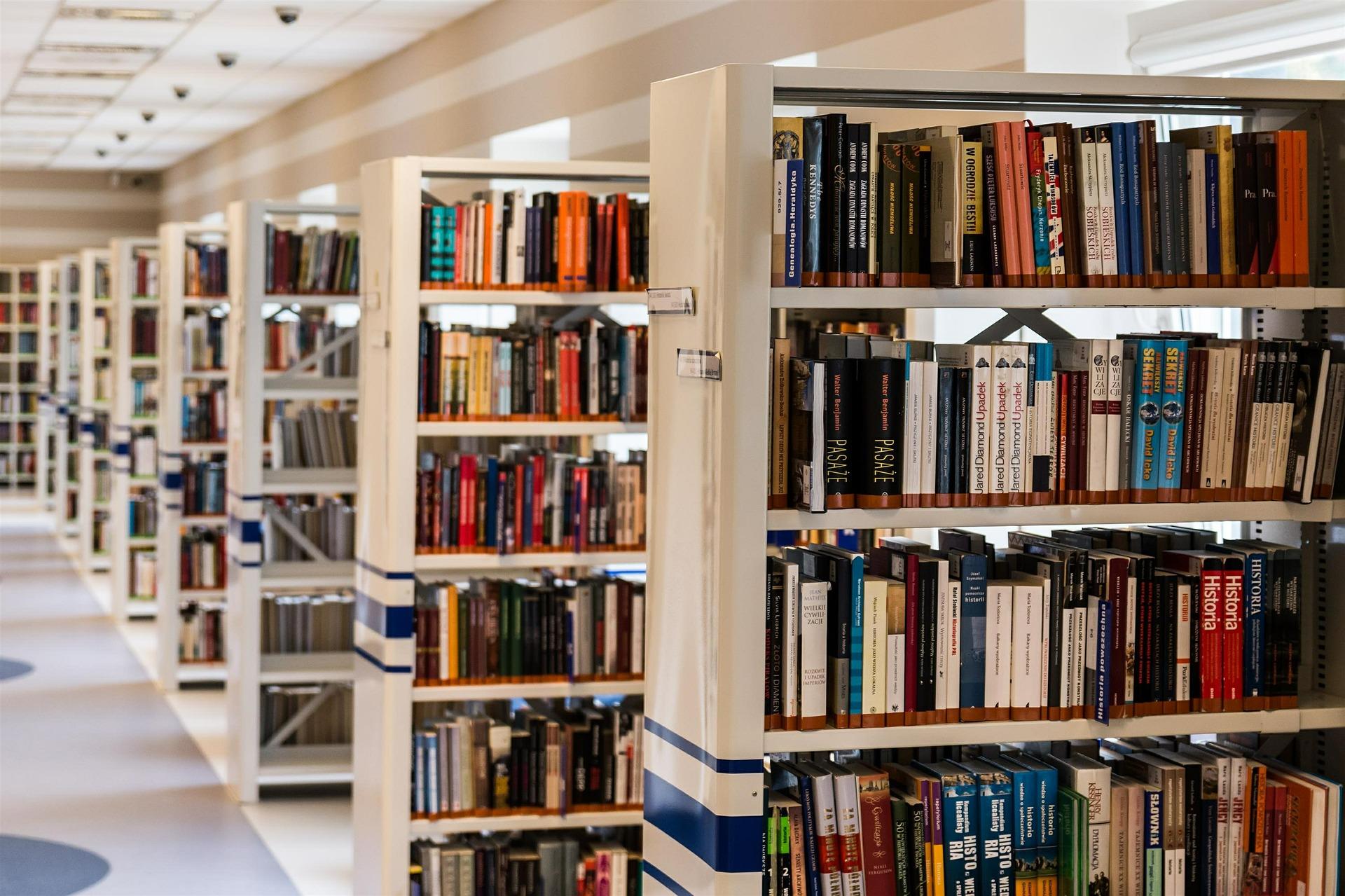 Lugares para escribir: bibliotecas o salas de estudio